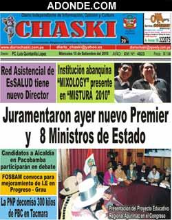 Diario Chaski de ABANCAY