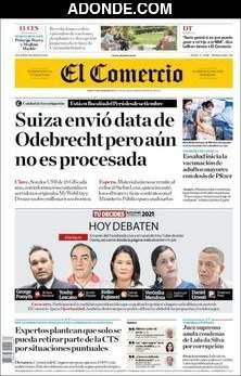 Portada de Diario El Comercio