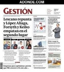 Portada de Diario Gestión Perú