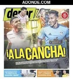Portada de Diario Depor Perú