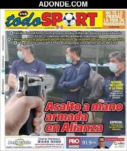 Portada de Diario Todo Sport