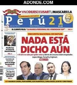Portada de Diario Perú 21