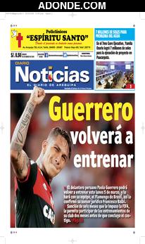 Portada de Diario Noticias de Arequipa