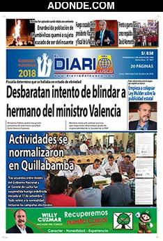 Portada de Diario del Cusco