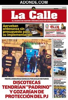 Portada de Diario La Calle