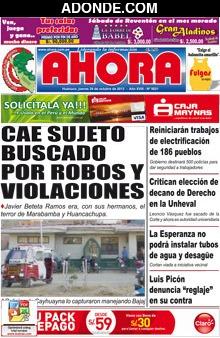 Diario Ahora de Huánuco