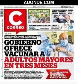 Portada de Diario Correo Lima Perú