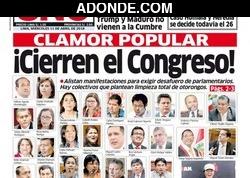 Portada de Diario Uno Perú