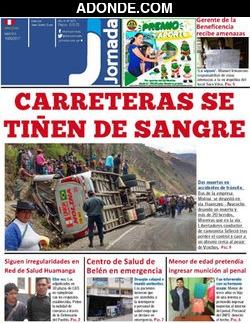 Portada de Diario Jornada de Ayacucho
