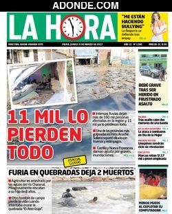 Portada de Diario La Hora de Piura