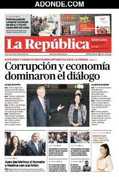 Portada de Diario La República Región Sur