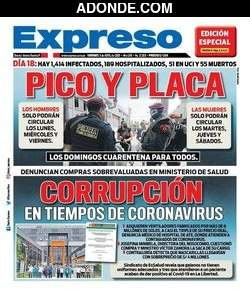Portada de Diario Expreso Perú