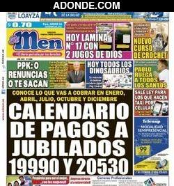 Portada de Diario El Men