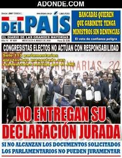 Portada de Diario Del País Perú