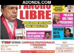 Portada de Diario Pro & Contra Iquitos