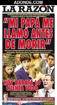 Portada de Diario La Razón
