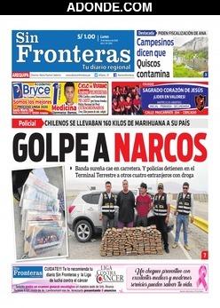 Portada de Diario Sin Fronteras Arequipa