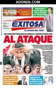 Portada de Diario Exitosa