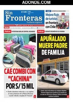 Portada de Diario Sin Fronteras Tacna