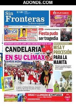 Portada de Diario Sin Fronteras Puno