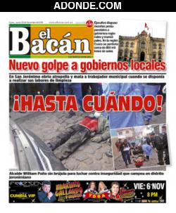 Portada de Diario El Bacán