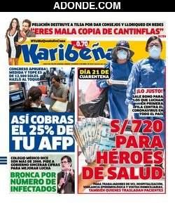 Portada de Diario Karibeña