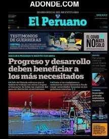 Portada de Diario Oficial El Peruano