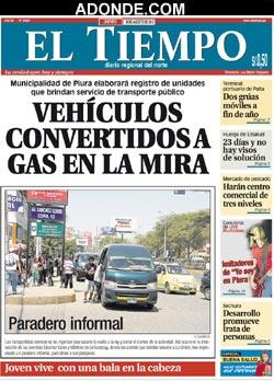 Diario El Tiempo de PIURA