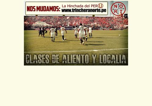 F tbol club universitario de deportes for Murales trinchera u norte